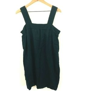 Old Navy Sleeveless Black Linen Dress Large